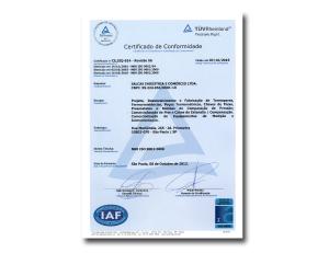 certificado iso 9001:2008 Salcas