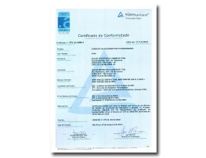 Certificado de sensor à Prova de Explosão