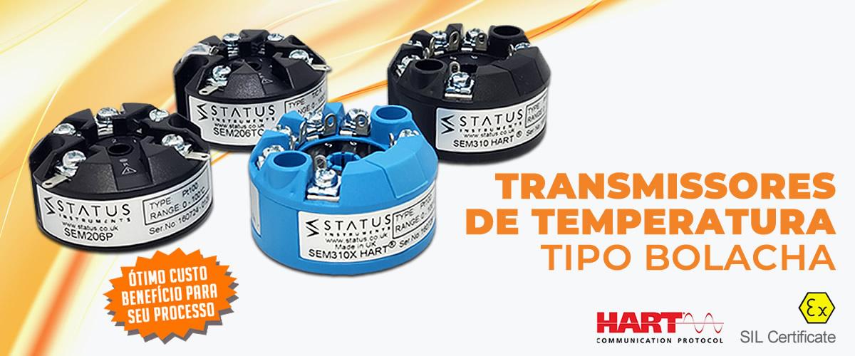 Transmissores de Temperatura Tipo Bolacha Status