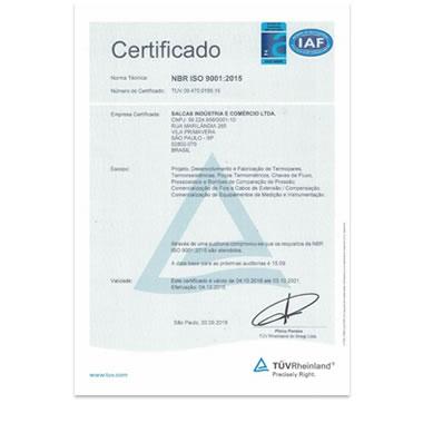 Certificado ISO 9001:2015