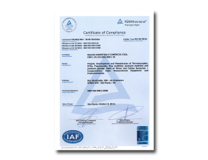 certificado iso 9001:2008 - Inglês